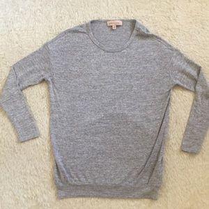 Philosophy gray light knit sweater